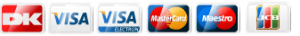 Design selv produkter og alle andre produkter i webshoppen, kan købes via Dankort, Visa, Visa electron, Mastercard, Maestro eller JCB