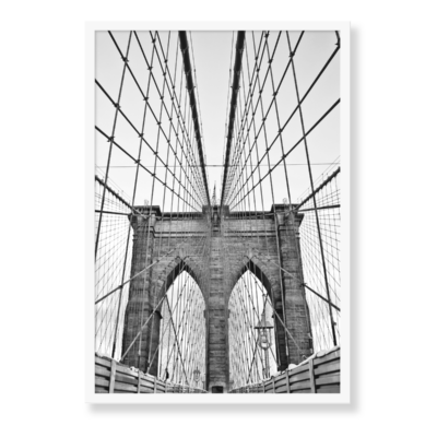 Plakat i formatet 30x40, med motiv af Brooklyn Bridge