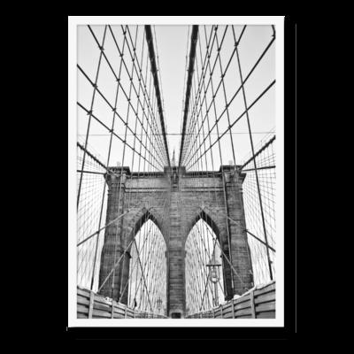 Plakat i formatet 30x40, med motiv af Brooklyn Bridge