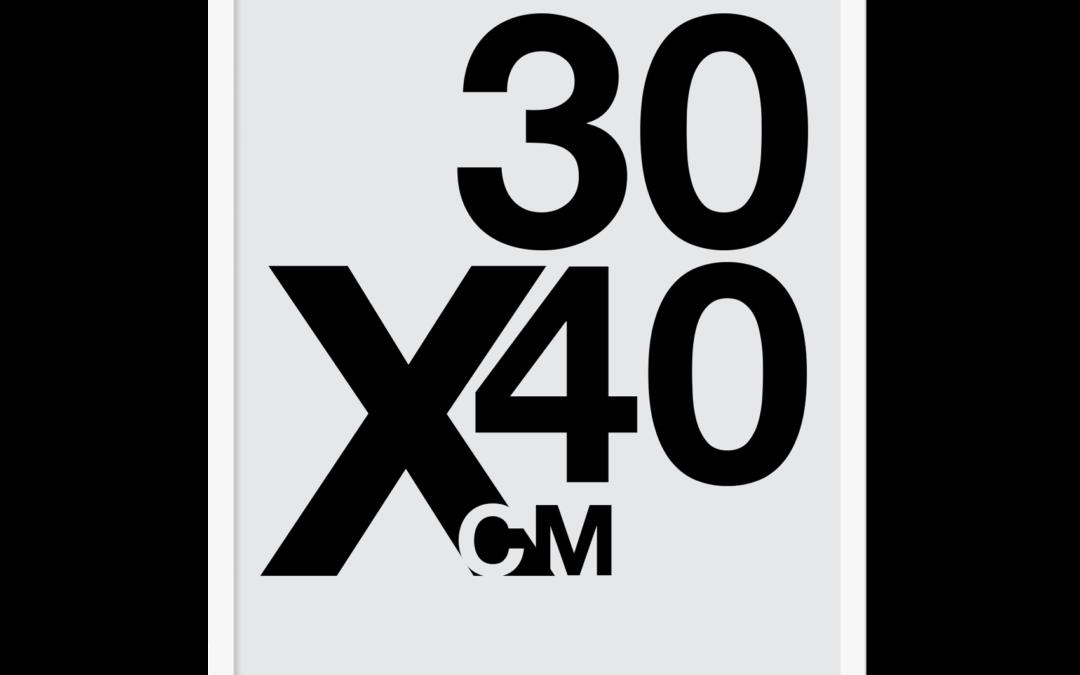 Design selv plakat, 30×40