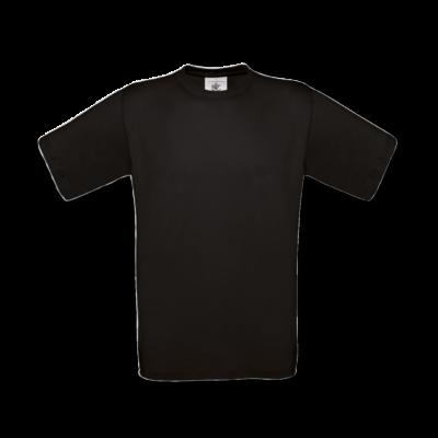 Unisex T-shirt sort. Billede taget foran