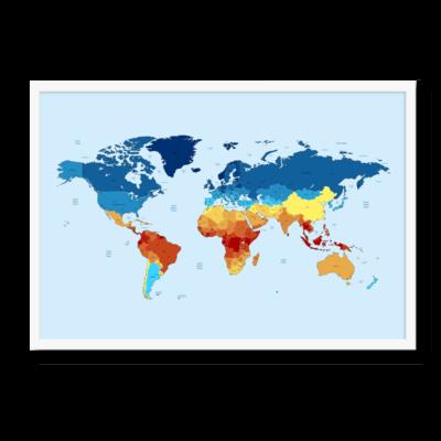 Verdenskortet med varmefelter fremvist